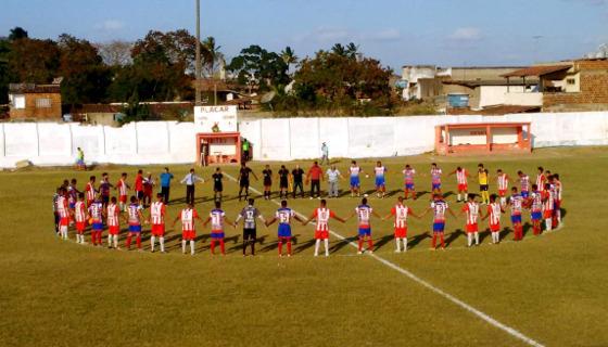 Homenagem de Centro Limoeirense e Afogados à Chapecoense. Foto: ), twitter/centroLFPE