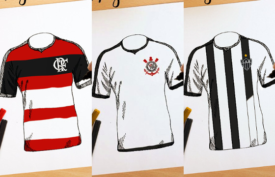 Ativação de patrocínio da Caixa Econômica Federal com Flamengo, Corinthians e Atlético-MG. Crédito: divulgação
