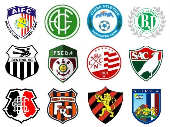 Os 12 clubes do Campeonato Pernambucano de 2017. Arte: Cassio Zirpoli/DP