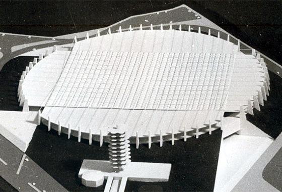 Maquete do estádio Guararapes. Foto: Acervo/DP