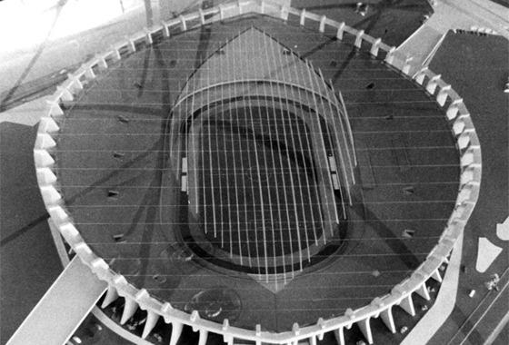 Maquete do estádio Presidente Médici. Foto: Acervo/DP