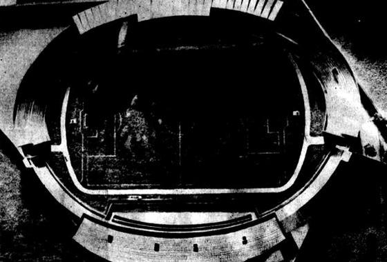 Maquete da ampliação dos Aflitos (1981). Foto: Arquivo/DP
