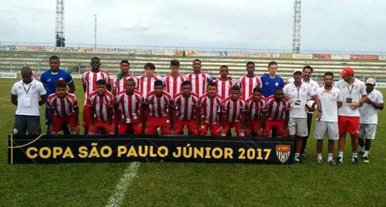 Time do Náutico na Copa SP Sub 20 de 2017. Foto: Náutico/instagram (@nauticope)