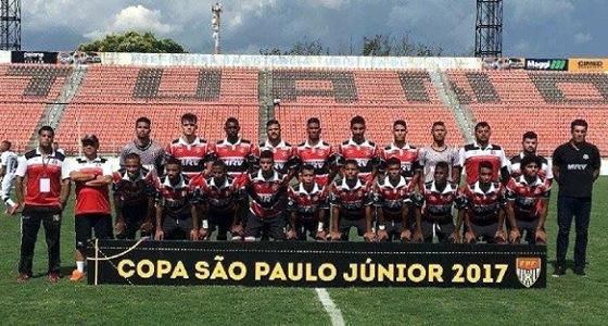 Time do Santa Cruz na Copa SP Sub 20 de 2017. Foto: Santa Cruz/instagram (@santacruzfc)