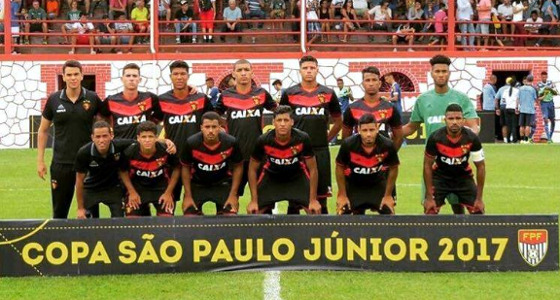 Time do Sport na Copa SP Sub 20 de 2017. Foto: Sport/divulgação