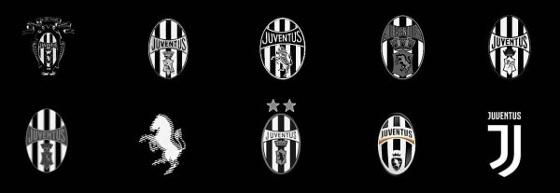 Evolução dos escudos da Juventus de Turim