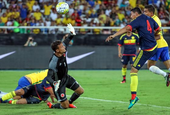Amistoso 2017: Brasil 1 x 0 Colômbia Foto: CBF/twitter (@CBF_Futebol)