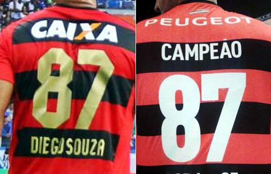 Camisas 87, do Sport e do Flamengo