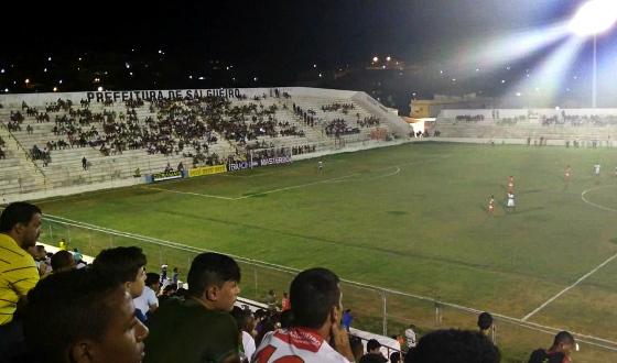 Estádio Cornélio de Barros. Foto: Salgueiro/twitter (@CarcaraNet)