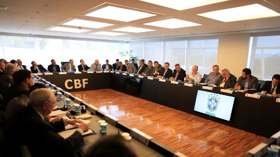 Conselho técnico da Série A de 2017, na sede da CBF, no Rio. Foto: Lucas Figueiredo/CBF
