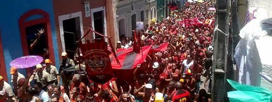 Desfile da troça Eternamente Sport em 2016. Foto: divulgação