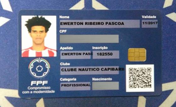 Nova carteira de atleta, via FPF.