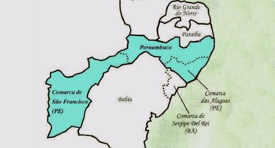 Mapa de Pernambuco em 1817