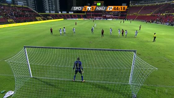 Pernambucano 2017, 5ª rodada: Sport 1x1 Náutico. Crédito: Rede Globo/reprodução