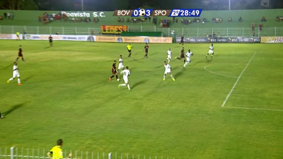 Copa do Brasil 2017, 3ª fase: Boavista 0x3 Sport. Crédito: Rede Globo/reprodução