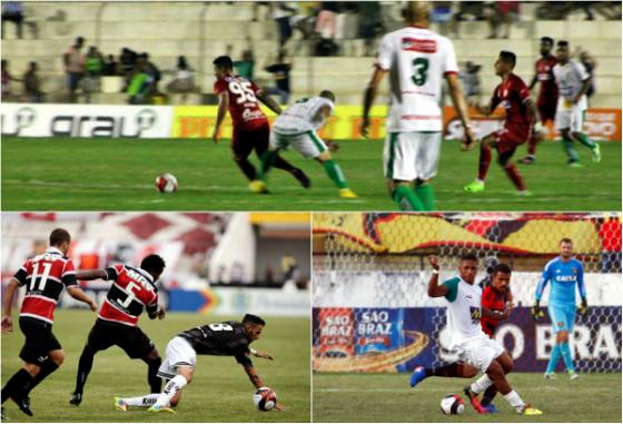 Pernambucano 2017, 7ª rodada: Salgueiro 2x0 Náutico, Santa Cruz 5x1 Central e Belo Jardim 0x1 Sport. Fotos: Léo Lemos/Náutico (Cornélio), Peu Ricardo/DP (Santa) e Rafael Martins/DP (Sport)