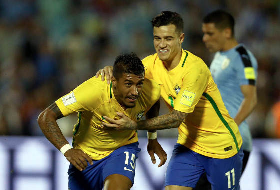 Eliminatórias da Copa 2018, em 22/03/2017: Uruguai 1x4 Brasil. Foto: CBF/twitter (@CBF_Futebol)