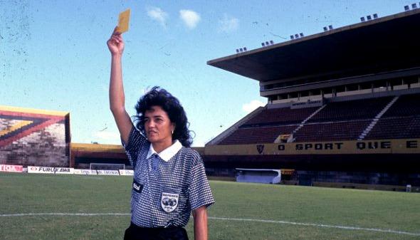 Maria Edilene, árbitra da FPF na década de 1990. Foto: Arquivo/DP