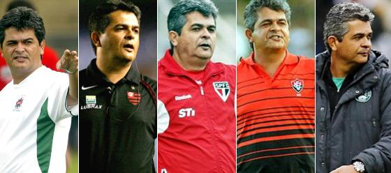 Trabalhos de Ney Franco: Ipatinga (2005), Flamengo (2006), São Paulo (2012), Vitória (2013) e Coritiba (2015)