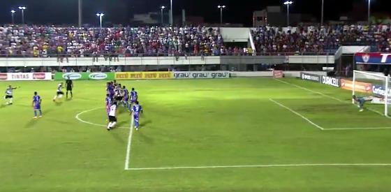 Nordestão 2017, quartas de final: Itabaiana 0 x 1 Santa Cruz. Crédito: Esporte Interativo/reprodução