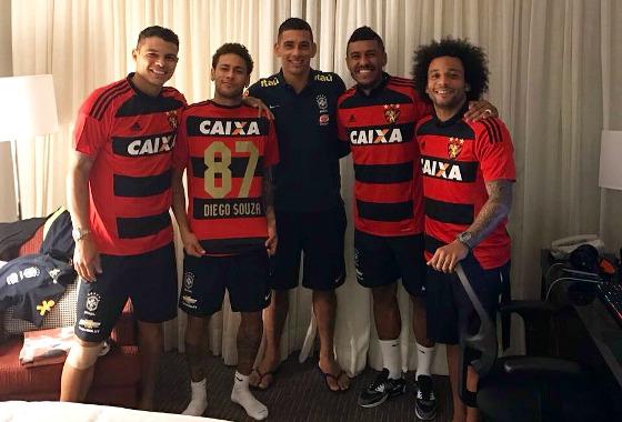 Diego Souza na concentração da Seleção Brasileira. Foto: Diego Souza/twitter (@DiegoSouzaDS87)