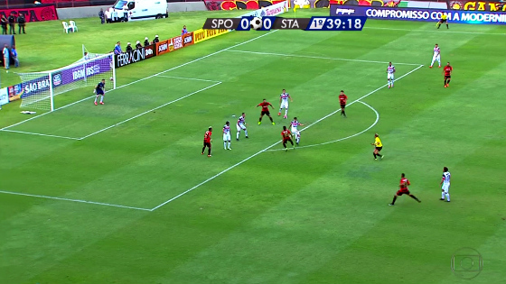 Pernambucano 2017, 8ª rodada: Sport 1 x 1 Santa Cruz. Foto: Rede Globo/reprodução
