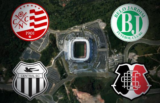 Rodada dupla na Arena Pernambuco...
