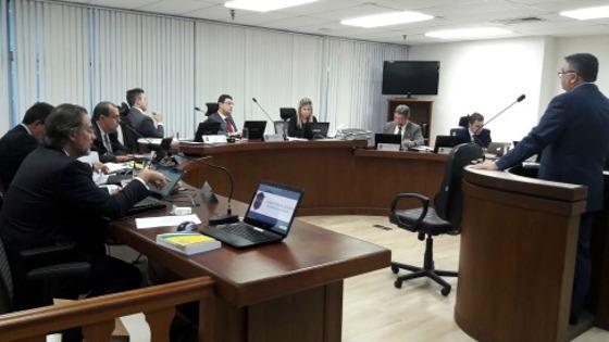 Julgamento do Santa Cruz no STJD sobre o fair play trabalhista. Foto: Daniela Lameira/STJD (site oficial)