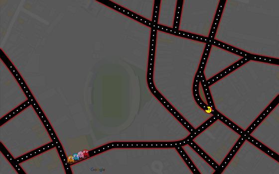Pac-Man nos Aflitos. Crédito: Google Maps/reprodução