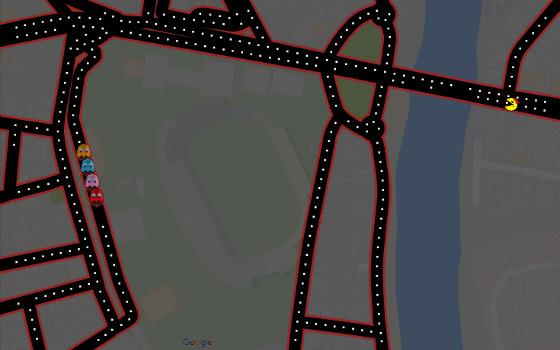Pac-Man na Ilha do Retiro. Crédito: Google Maps/reprodução