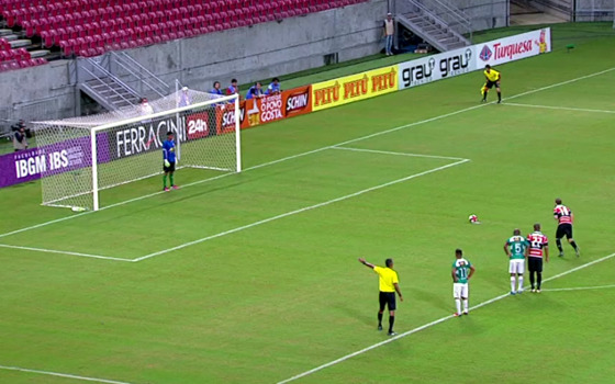 Pernambucano 2017, 9ª rodada: Belo Jardim 0 x 4 Santa Cruz. Crédito: Rede Globo/reprodução