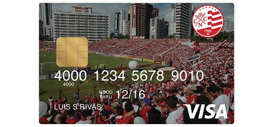 Cartão de crédito do Náutico. Imagem: Náutico/reprodução