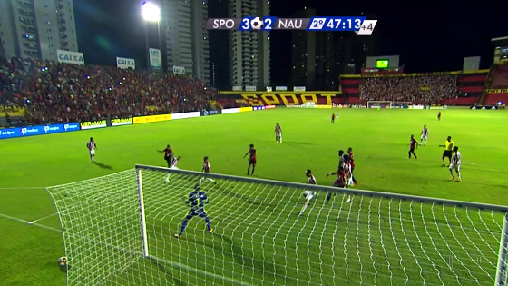 Pernambucano 2017, semifinal: Sport 3 x 2 Náutico. Crédito: Rede Globo/reprodução
