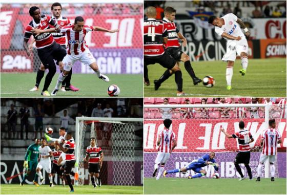 Jogos pelo Estadual 2017: Náutico 1x1 Santa Cruz e Santa Cruz 1x2 Náutico. Fotos: Peu Ricardo/DP (Arena) e Ricardo Fernandes/DP (Arruda)