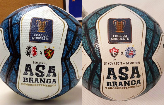 As bolas das semifinais da Copa do Nordeste de 2017. Crédito: divulgação