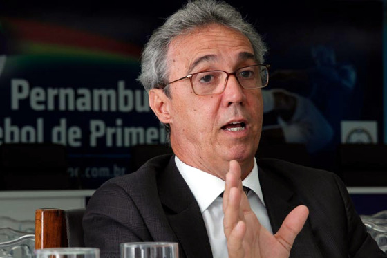Evandro Carvalho, o presidente da FPF. Foto: Ricardo Fernandes/DP