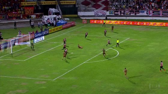 Copa do Nordeste 2017, semifinal: Santa Cruz 0 x 2 Sport. Crédito: Rede Globo/reprodução