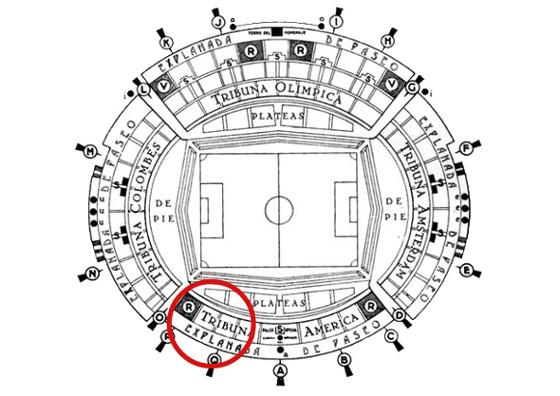 Setor para a torcida rubro-negra no Estádio Centenário