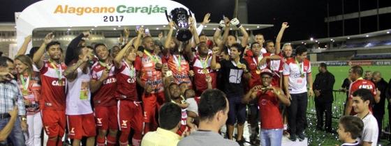 CRB campeão alagoano de 2017. Foto: Federação Alagoana de Futebol (FAF)/divulgação