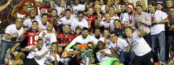 Vitória campeão baiano de 2017. Foto: Vitória/divulgação