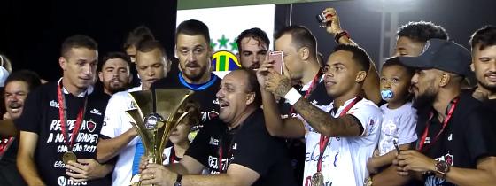 Botafogo campeão paraibano de 2017. Crédito: Esporte Interativo/reprodução