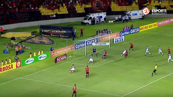 Copa do Nordeste 2017 semifinal: Sport 1x2 Santa Cruz. Imagem: Esporte Interativo/reprodução