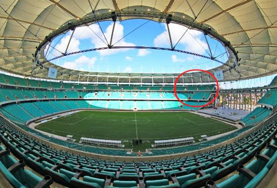 A Arena Fonte Nova, em Salvador. Foto: Itaipava Arena Fonte Nova