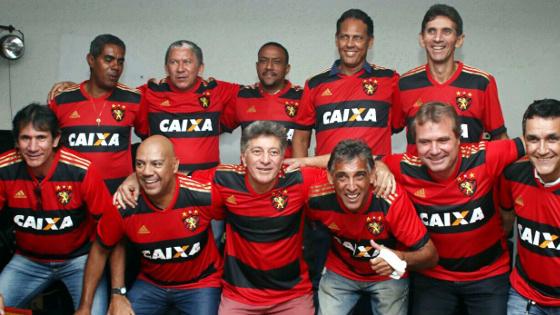 Reunião do time campeão brasileiro de 1987 em 21 de maio de 2017. Foto: Anderson Freire/Sport Club do Recife