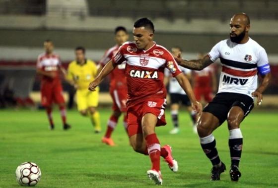 Série B 2017, 3ª rodada: CRB 1x0 Santa Cruz. Crédito:  Ailton Cruz/FAF (federação alagoana de futebol)
