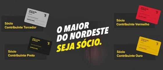 Campanha de sócios do Sport em 2017. Crédito: Sport/facebook