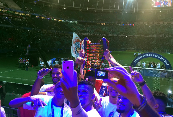 Nordestão 2017, final: Bahia 1 x 0 Sport. Foto: Bahia/twitter (@ECBahia)