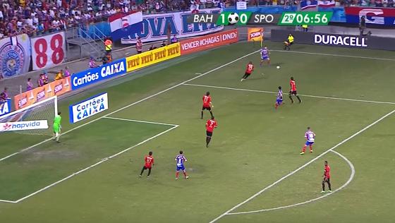 Nordestão 2017, final: Bahia 1 x 0 Sport. Crédito: Rede Globo/reprodução