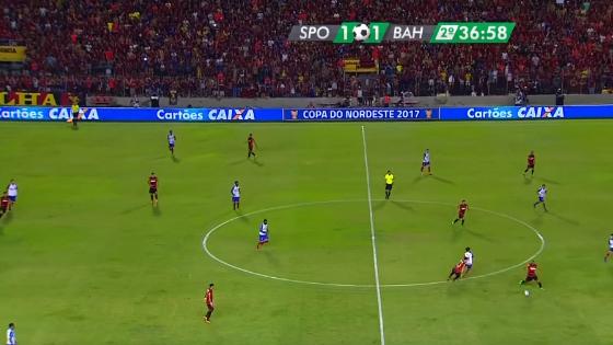 Nordestão 2017, final: Sport 1x1 Bahia. Crédito: Rede Globo/reprodução