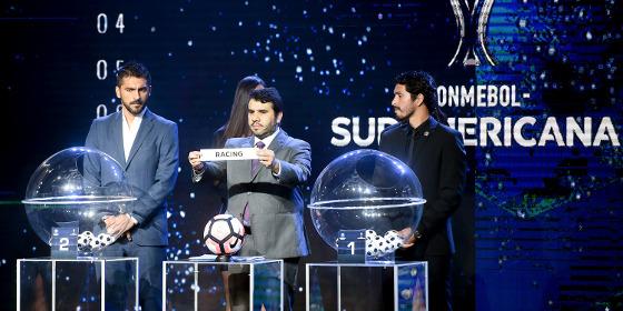 Sorteio da 2ª fase da Copa Sul-Americana. Foto: Conmebol/site oficial